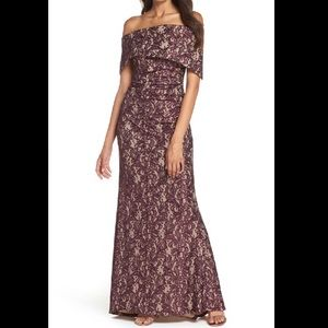 Off the Shoulder Vince Camuto Gown